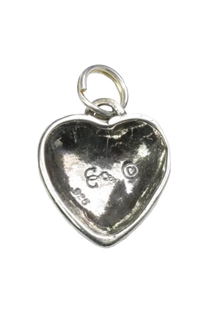 Heart Charm Sterling Silver (Back)