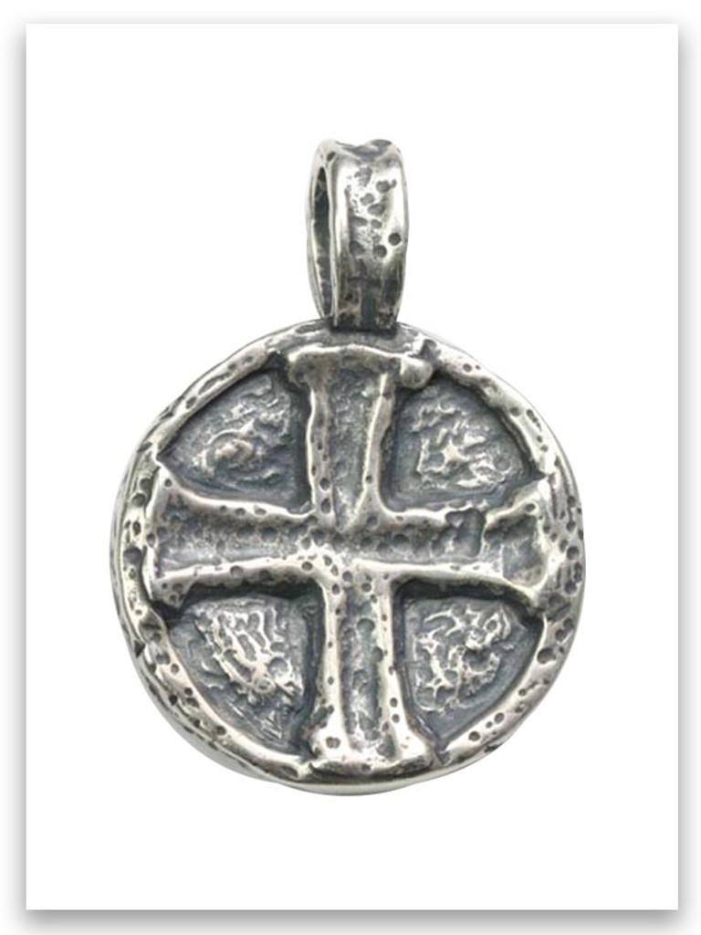 Sterling Silver Jesus Wept Pendant