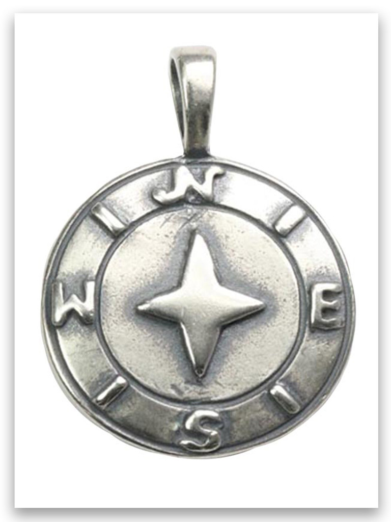 One Guide Sterling Silver Pendant