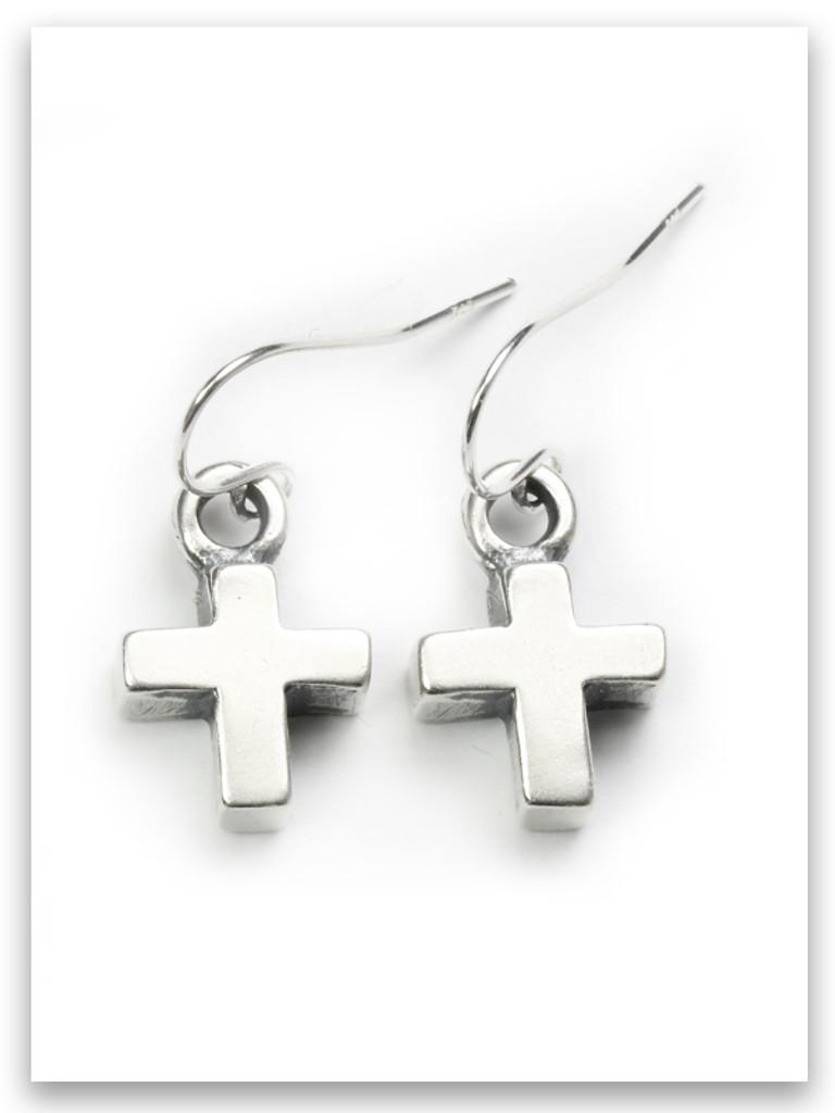 Bold Faith Cross Earrings