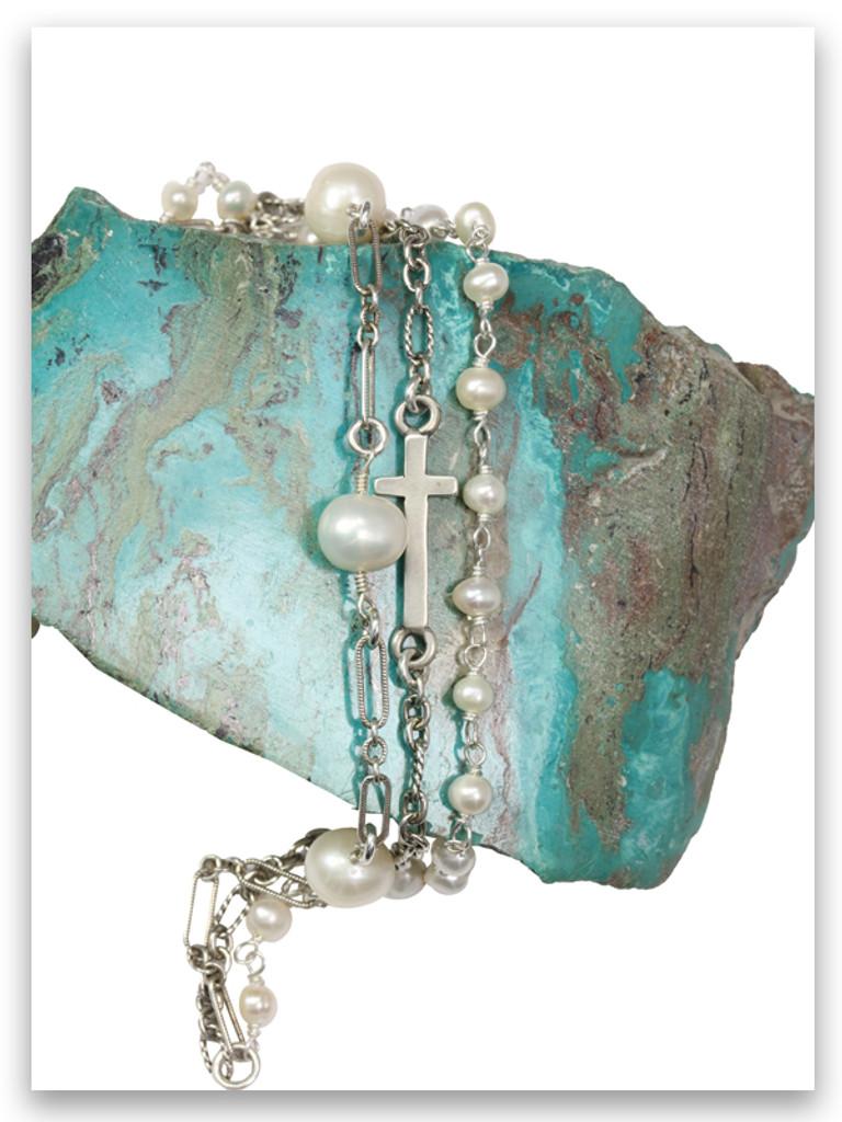 Pearl East-West Triple Strand Bracelet
