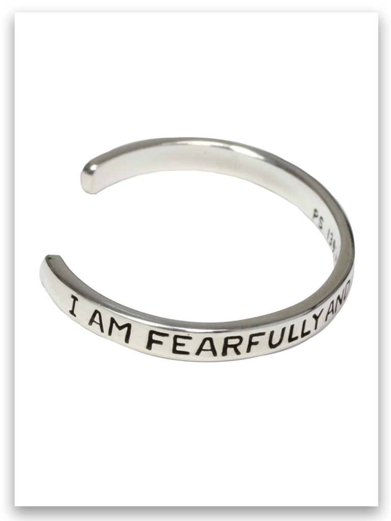 Infant bracelet I am Fearfully and Wonderfully made