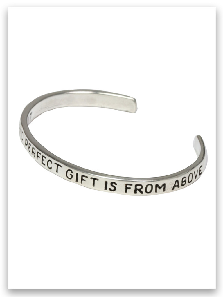 Infant Every Good and Perfect Gift is from above bracelet