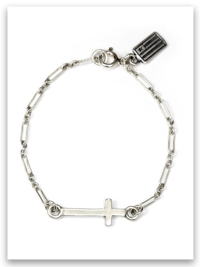 """East-West 6"""" Sideways Cross Bracelet"""