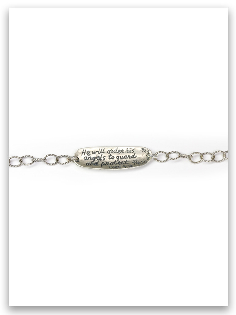 Guard and Protect Sterling Link Bracelet (back view)