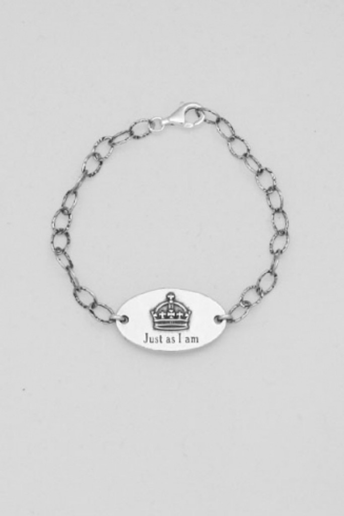 Just As I Am Sterling Silver Chain Bracelet