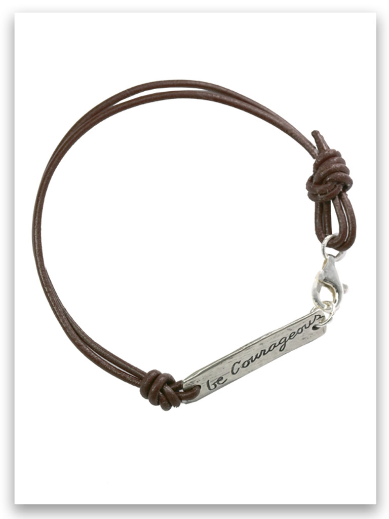Be Courageous Leather Bracelet