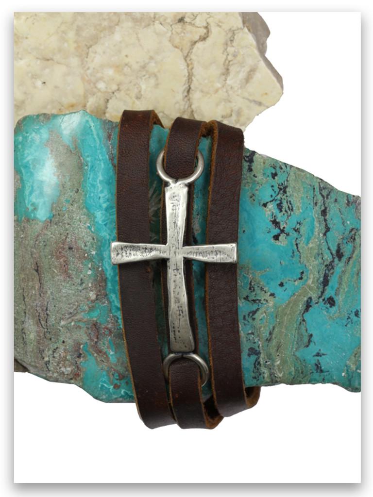 Power of God Leather Triple Wrap Bracelet