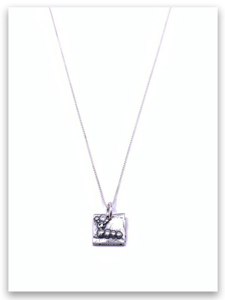 Caterpillar Sterling Silver Necklace