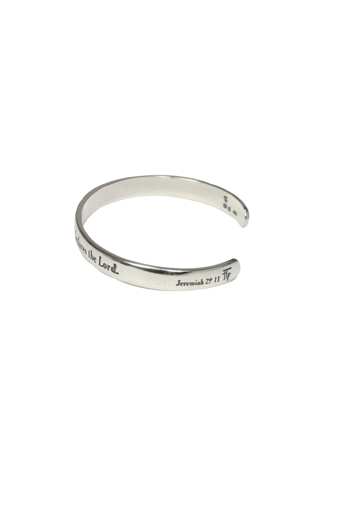 I know the plans I have for you. Jeremiah 29:11 Scripture Cuff Bracelet side view
