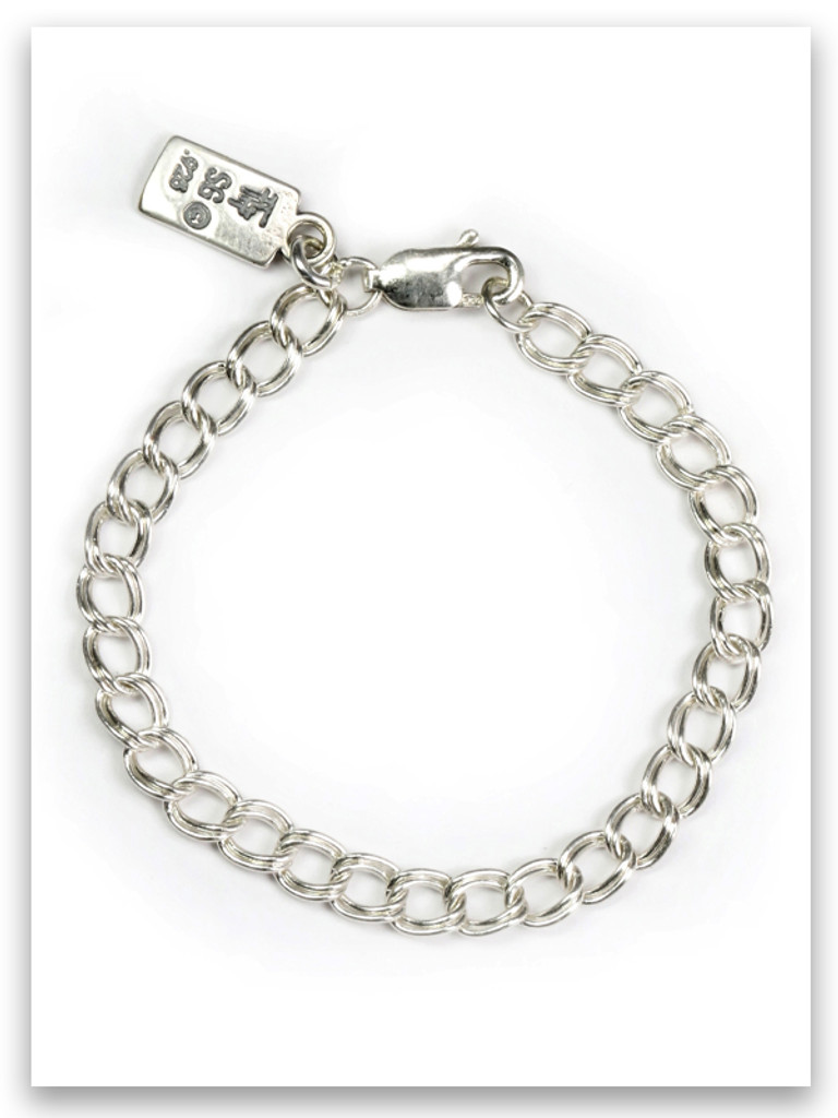 """7"""" Sterling Silver Traditional Charm Bracelet"""