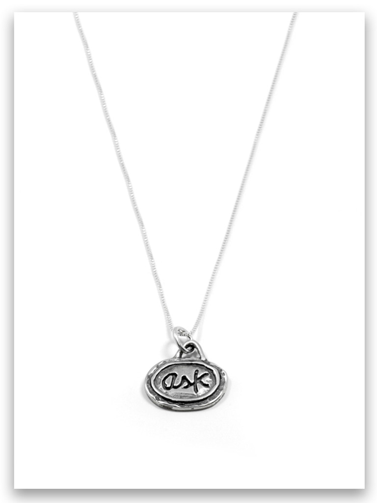 Ask iTAG Sterling Silver Necklace