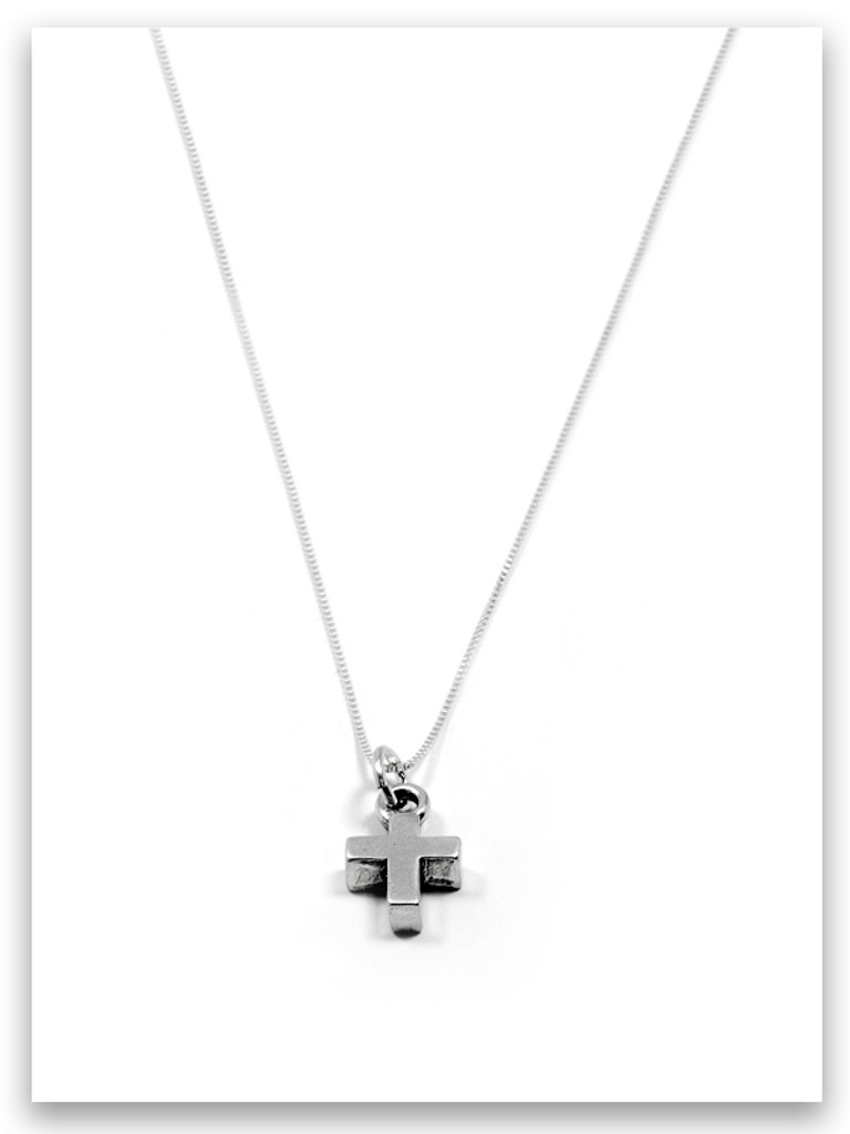 Bold Faith iTAG Sterling Silver Necklace