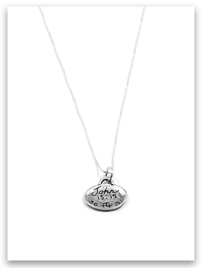 Friends iTAG Sterling Silver Necklace