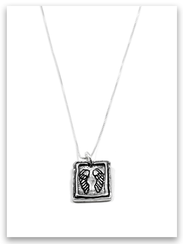Protection iTAG Sterling Silver Necklace
