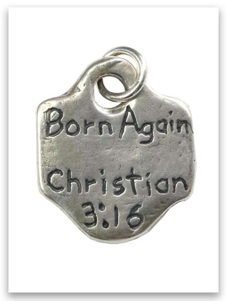 Born Again Sterling Silver Charm