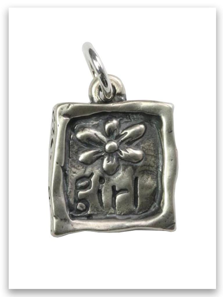 Flower Girl Sterling Silver Charm