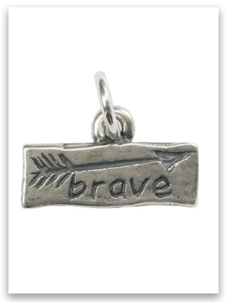 Brave Sterling Silver iTAG Charm