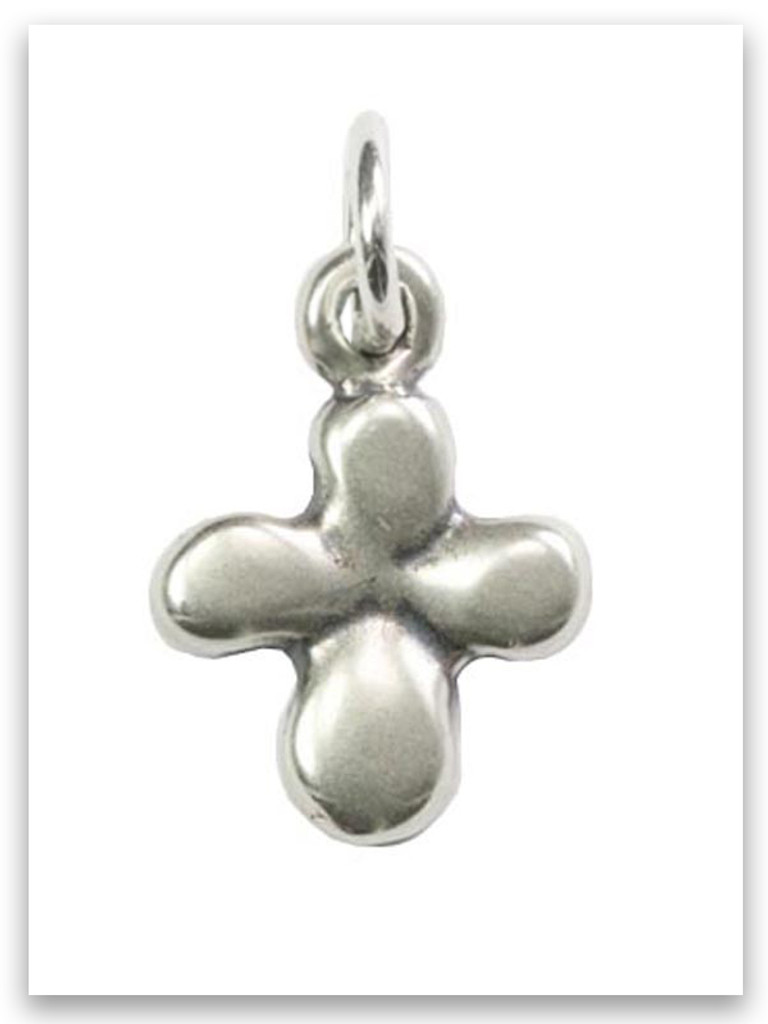 Tiny Cross Sterling Silver iTAG Charm