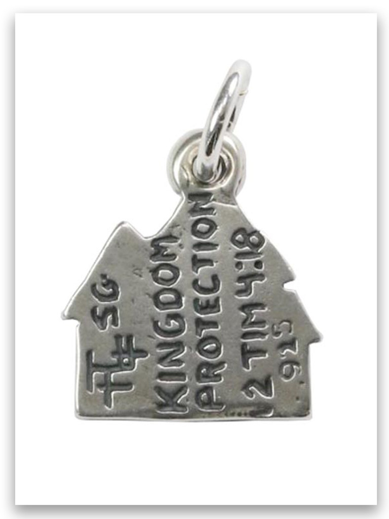 Kingdom Protection Sterling Silver Charm
