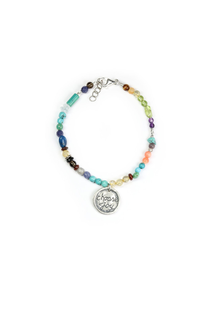 Choose Joy Precious/Semi Precious Stones Bracelet