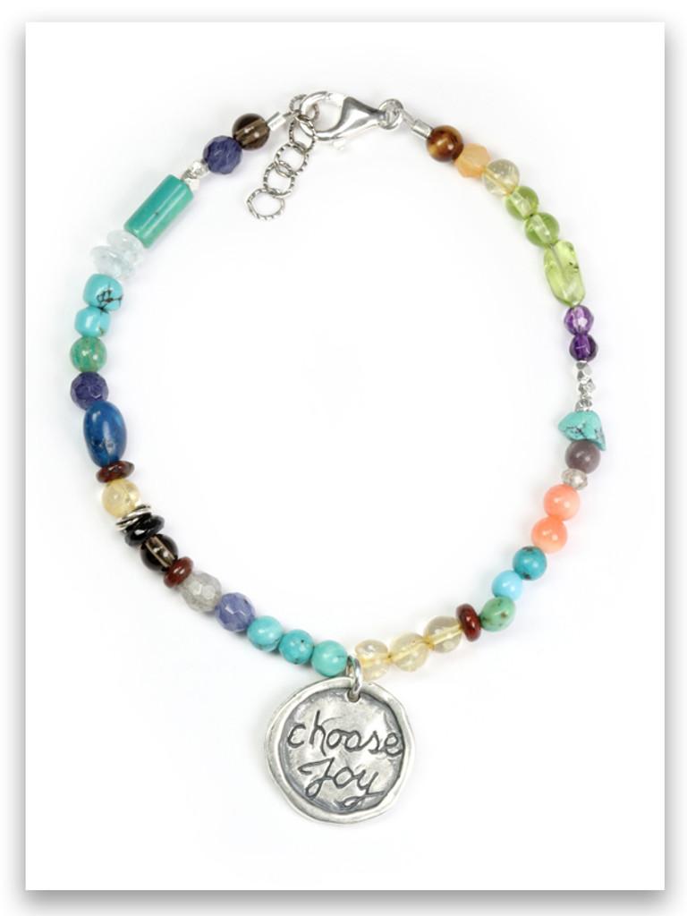 Choose Joy Bracelet-Precious/Semi Precious Stones