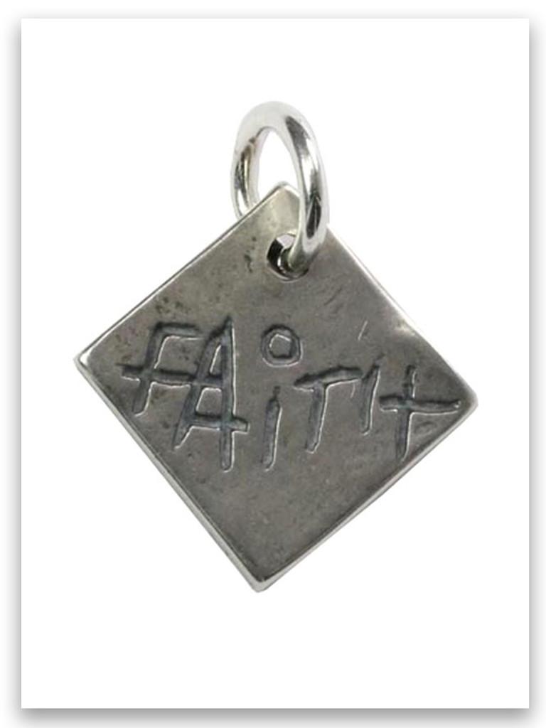 Faith Sterling Silver Charm