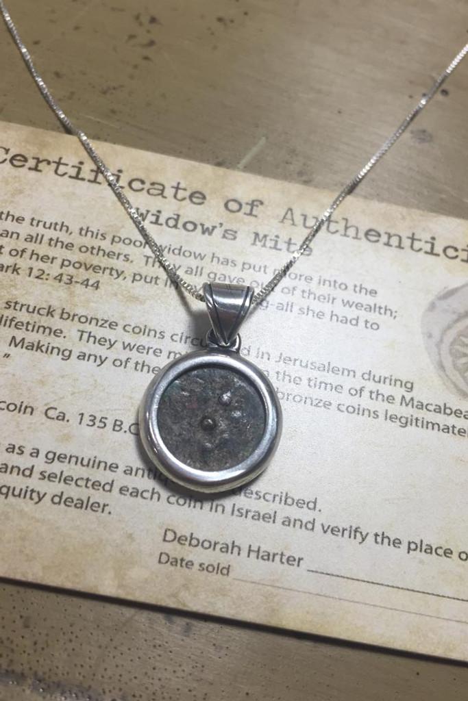 2000 Year Old Wheel Widow's Mite Coin