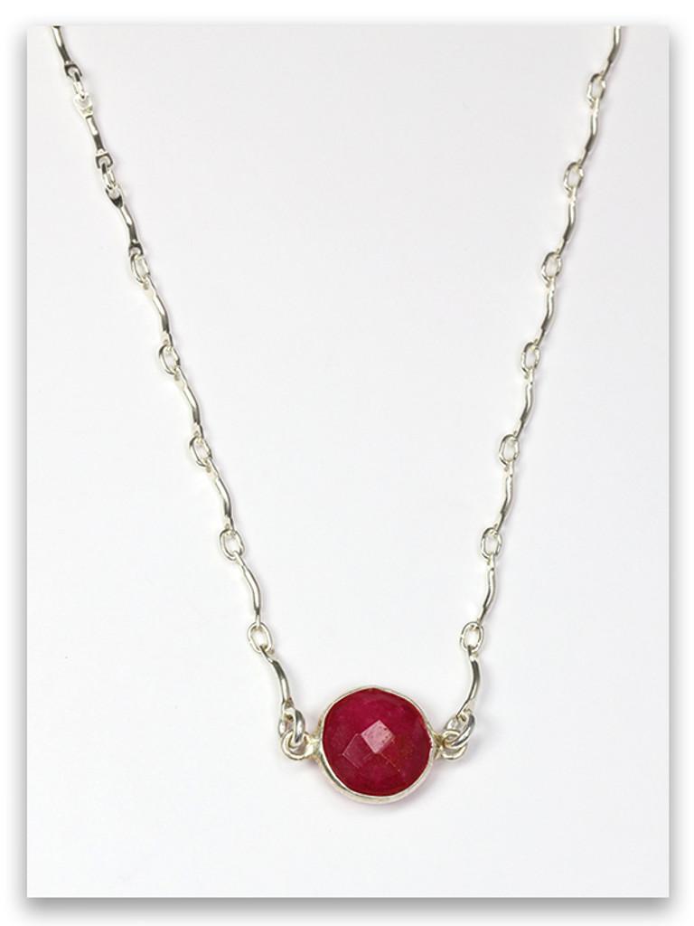 Garnet-Judah Twelve Tribes Necklace