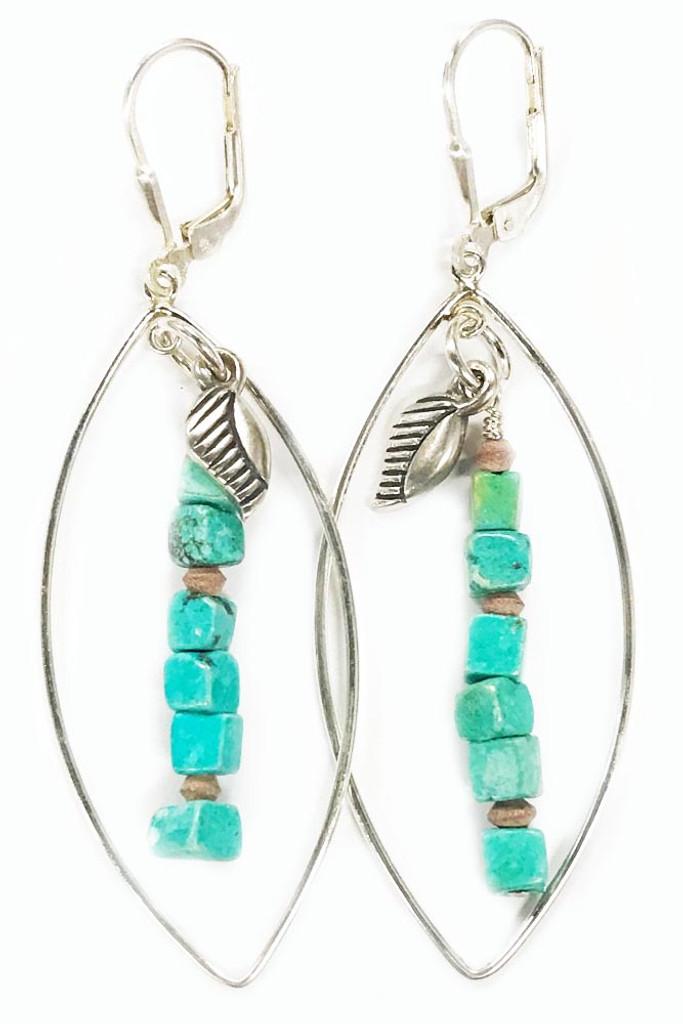 Prosper Turquoise Large Oval Sterling Earrings