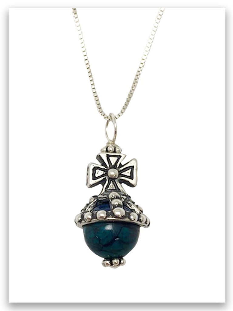 Favor Eilat Stone Royal Scepter Cross Necklace (SOLD Separately)