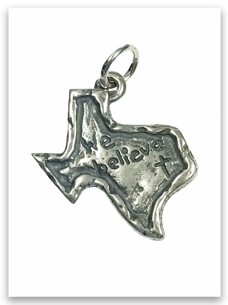 Sterling Silver Texas Charm-We Believe