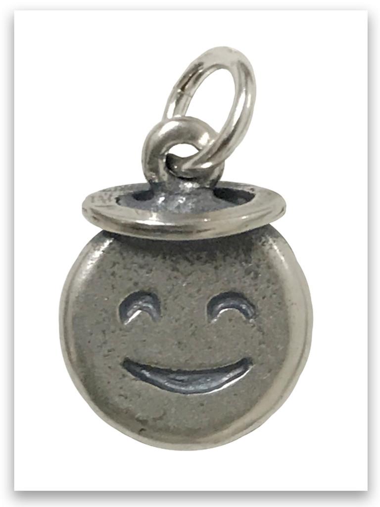 Angel Emoji Sterling Silver Charm