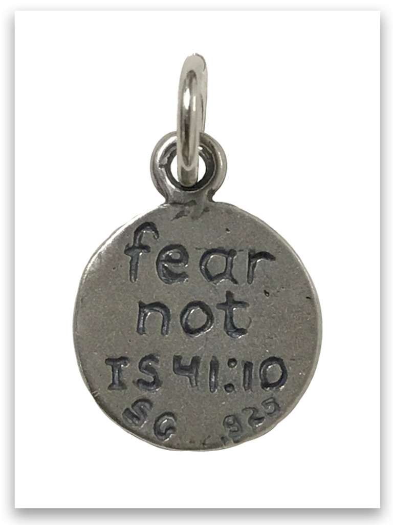 Fear Not Emoji Sterling Silver Charm