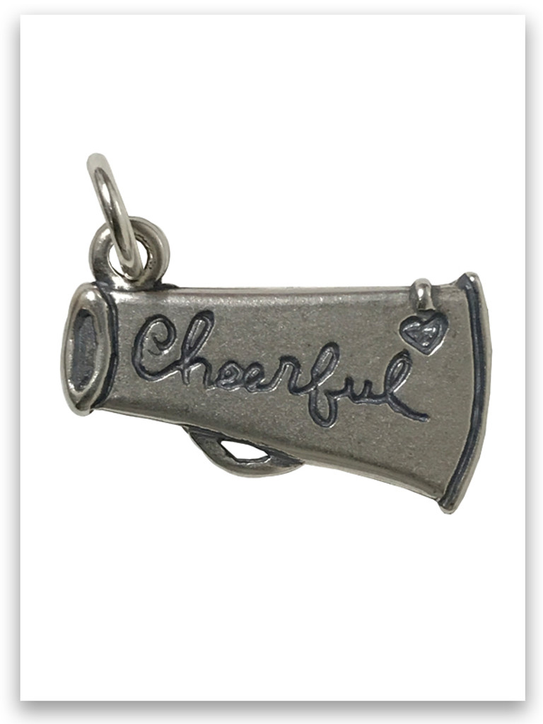 Cheerful Sterling Silver Charm