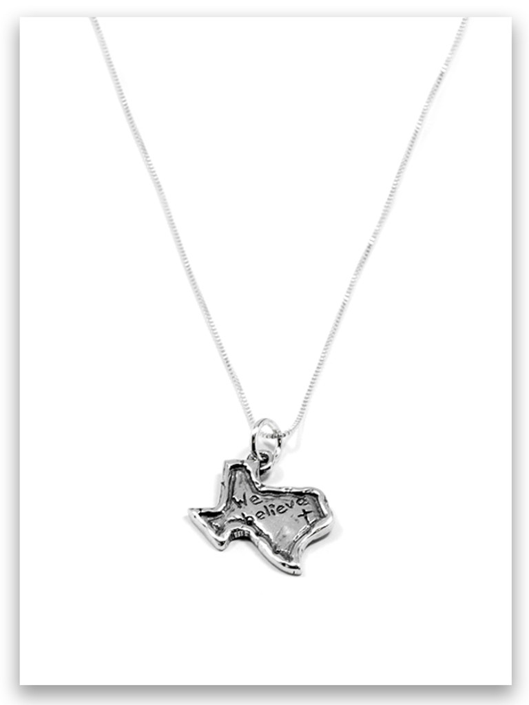 Sterling Silver Texas Charm Necklace