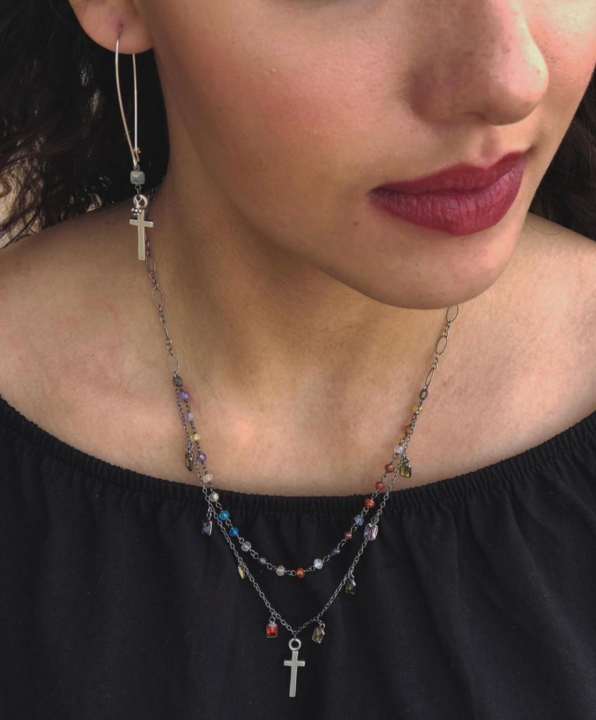 East-West Multi, Precious Stone Necklace