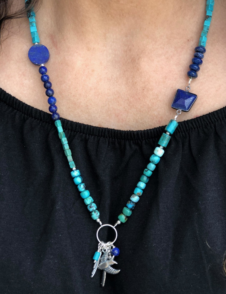 Valuable Hues of Blue Necklace