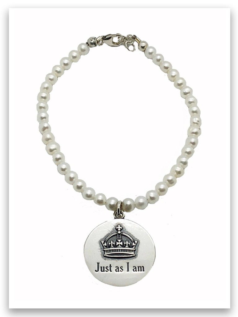 Just As I Am Pearl Bracelet