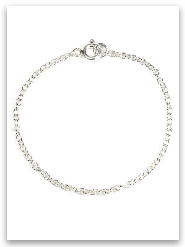 Rolo Link Charm Bracelet 4mm