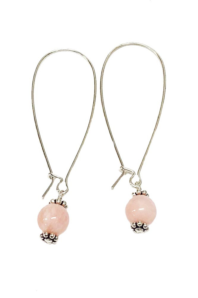 Pink Warrior-Pink Stone Earrings