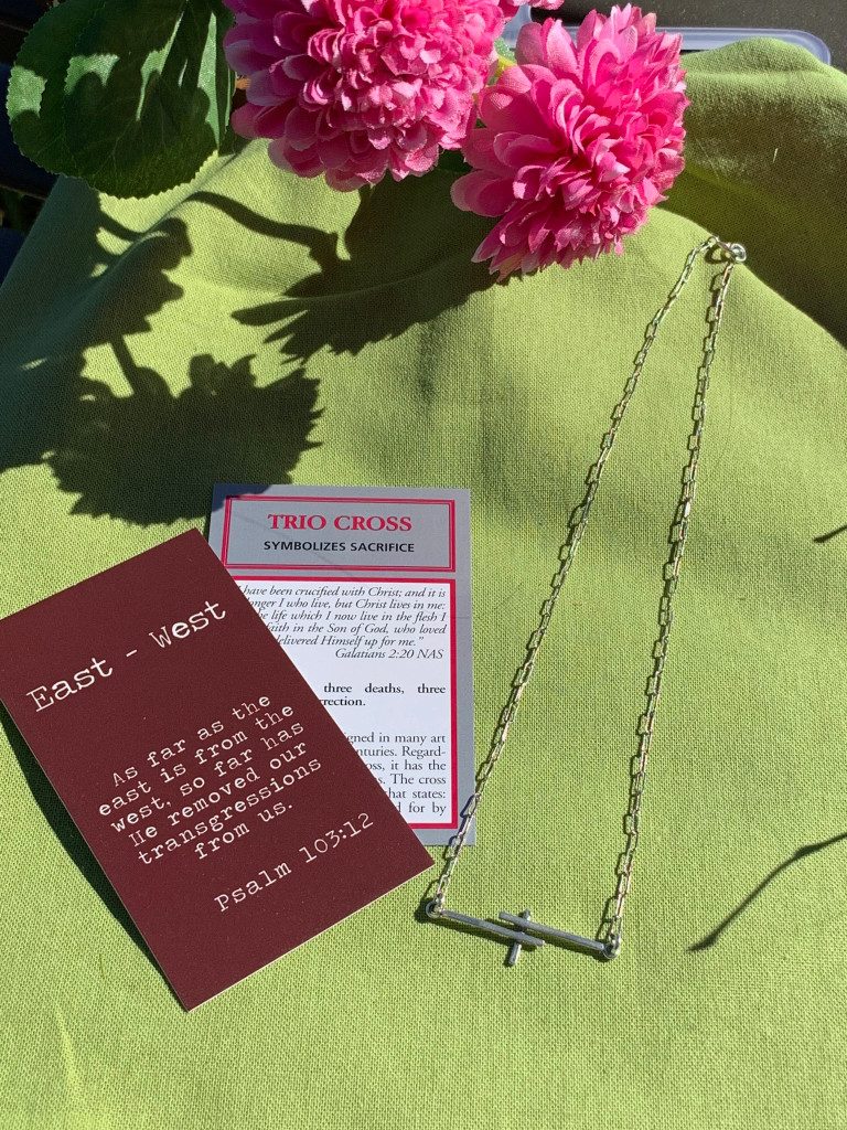 E-W Trio Cross Necklace