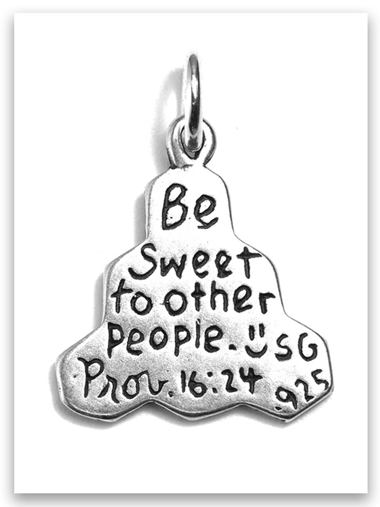 Be Sweet Sterling Silver Charm