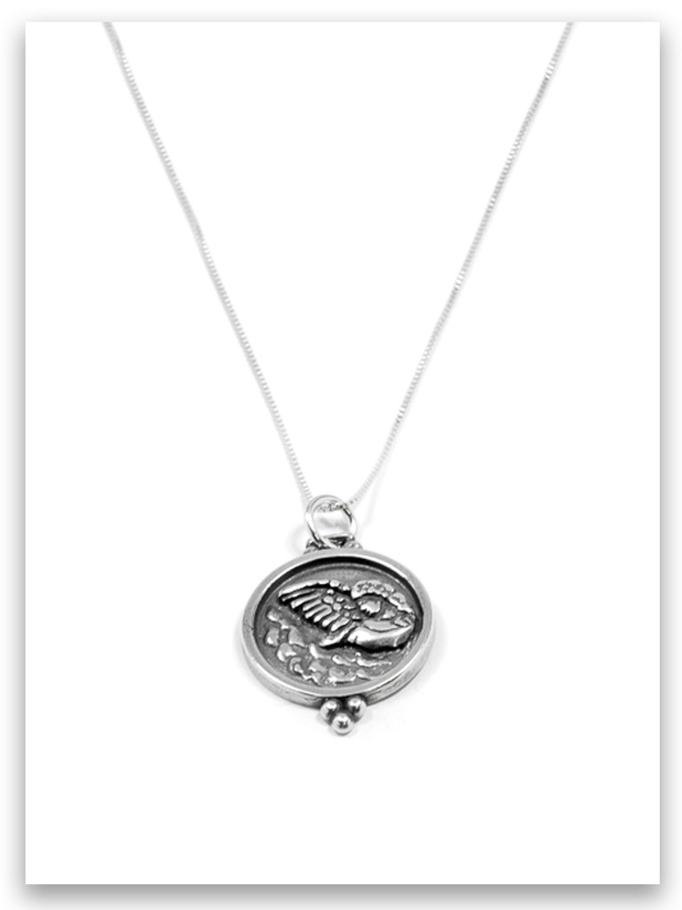 Angel Messenger Sterling Silver Necklace