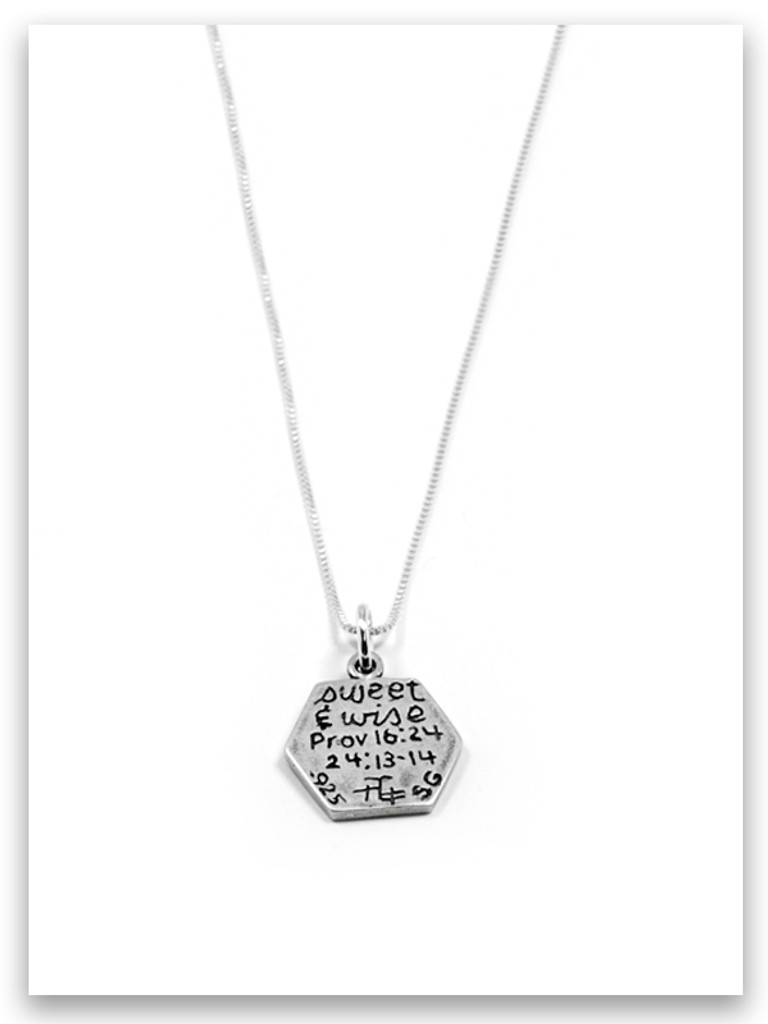 Be Sweet and Wise Sterling Silver Necklace