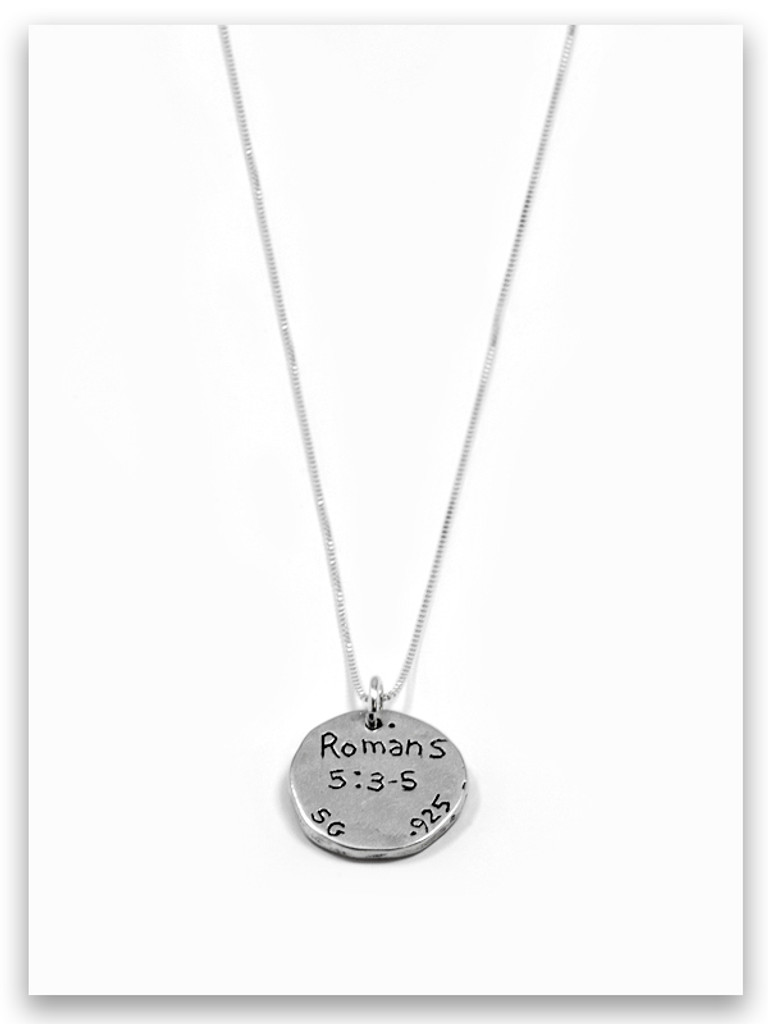 Choose Joy Sterling Silver Charm Necklace