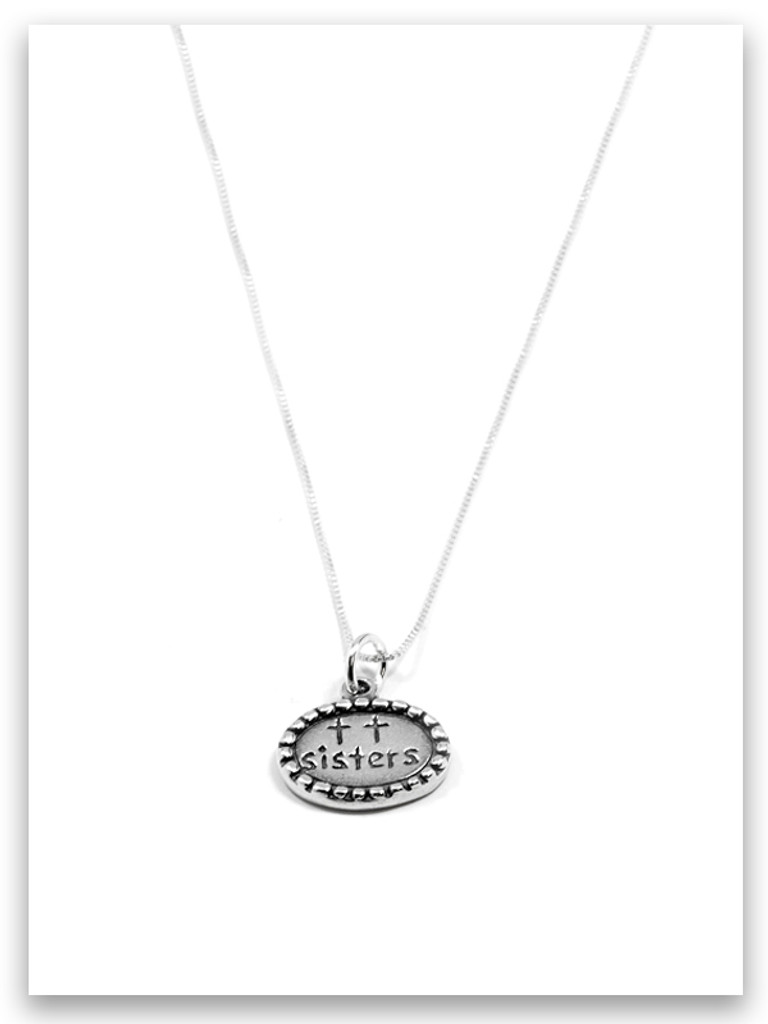 Sisters Sterling Silver Charm Necklace