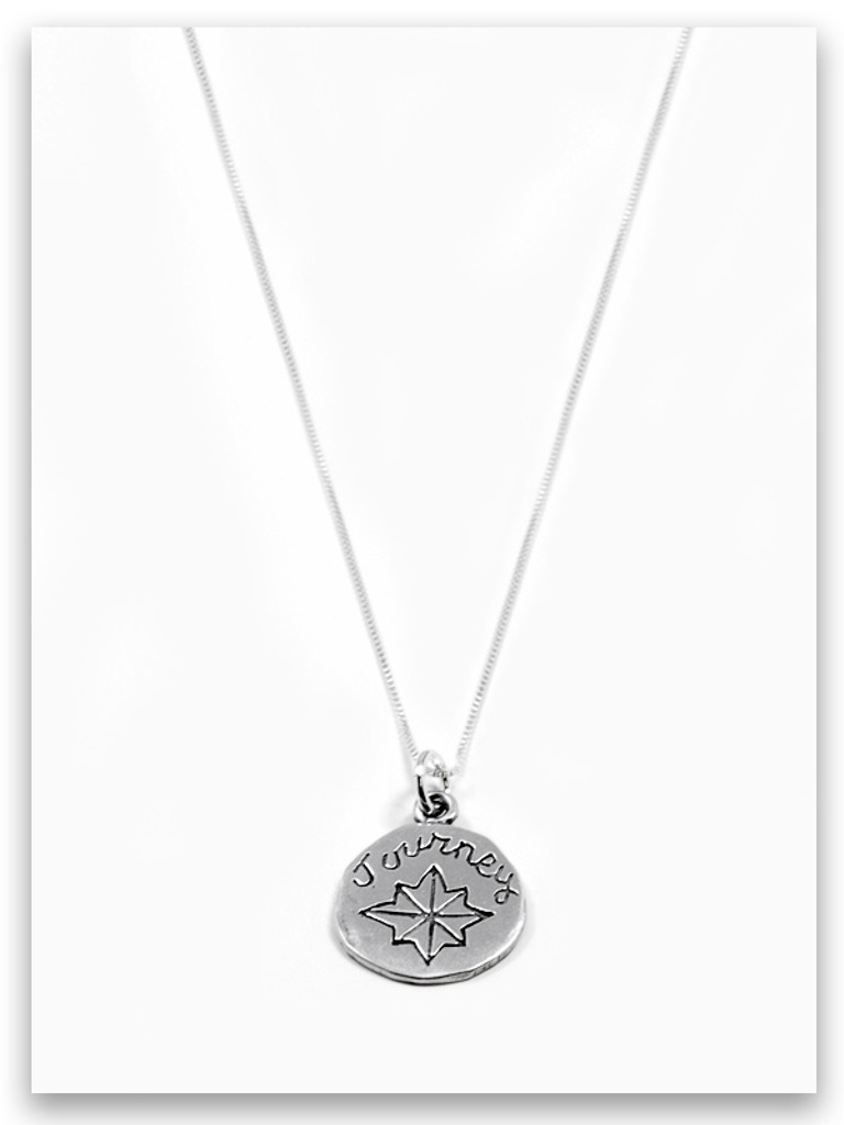 Journey Charm Sterling Silver Necklace