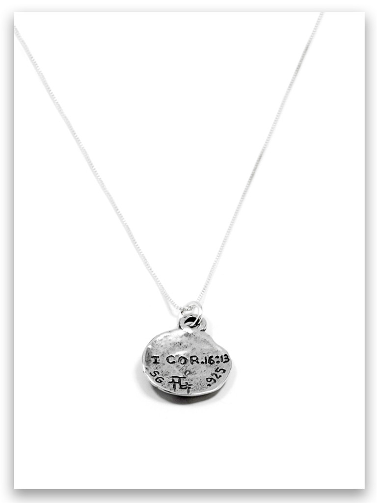 Hoplon Sterling Silver Charm Necklace