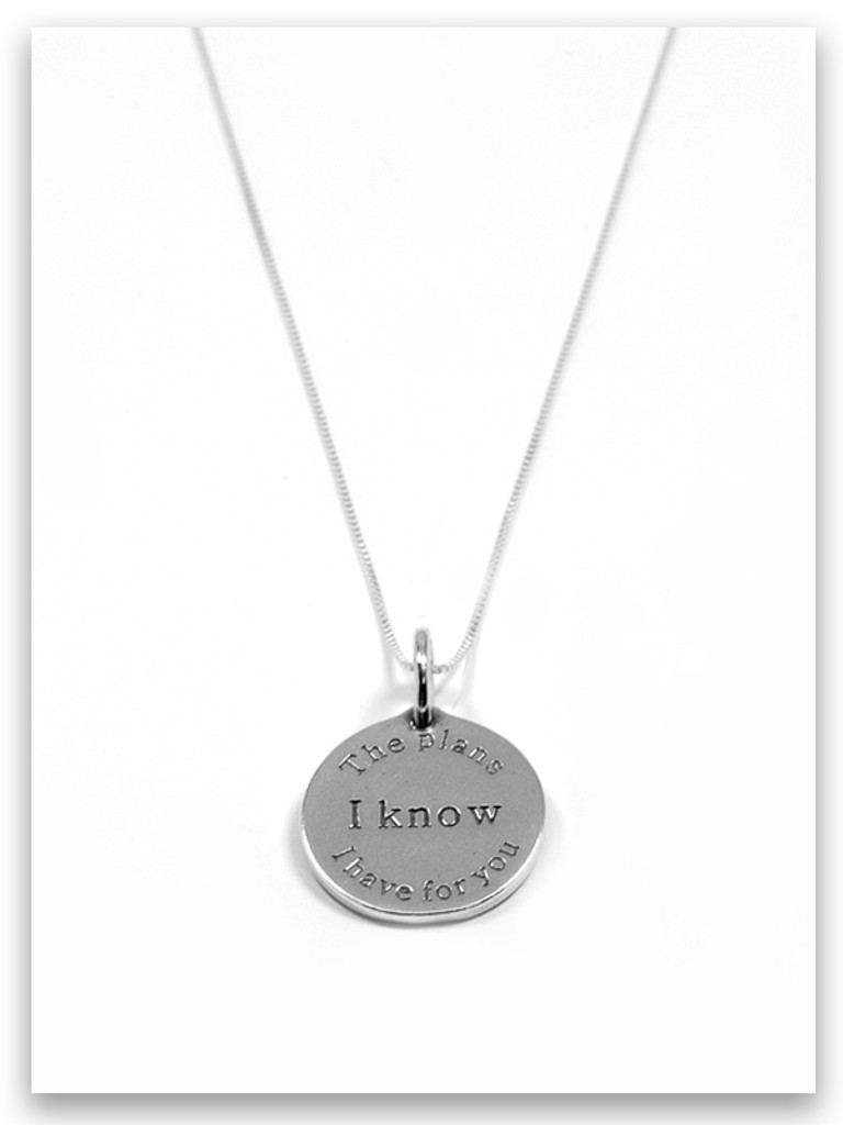 I Know Sterling Silver Charm Necklace